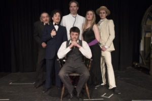Photo of the full cast. Martin Sanders, Blake Selmes, Ryan Paranthoiene, Joshua Waters, Courtney McKenzie and Harrison Treble. Photo by Danny Scott